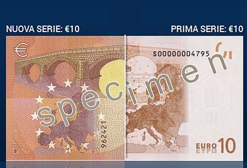 Nuove Banconote da 10 Euro differenze con le vecchie