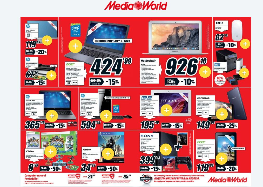 Volantino Mediaworld offerte dal 2 Gennaio 2015