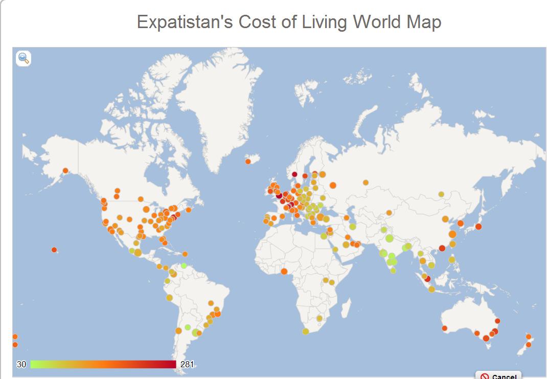 Costo della vita nelle principali città del mondo