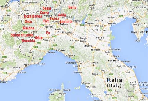 Cartina Dei Fiumi Del Nord Italia.Come Trovare L Oro Nei Fiumi Italiani E Dove Cercare