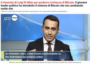 truffe online di maio e i bitcoin