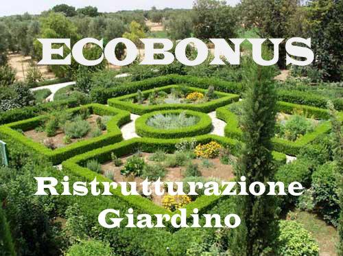 Ecobonus come funziona il bonus verde per giardini for Ristrutturare il giardino