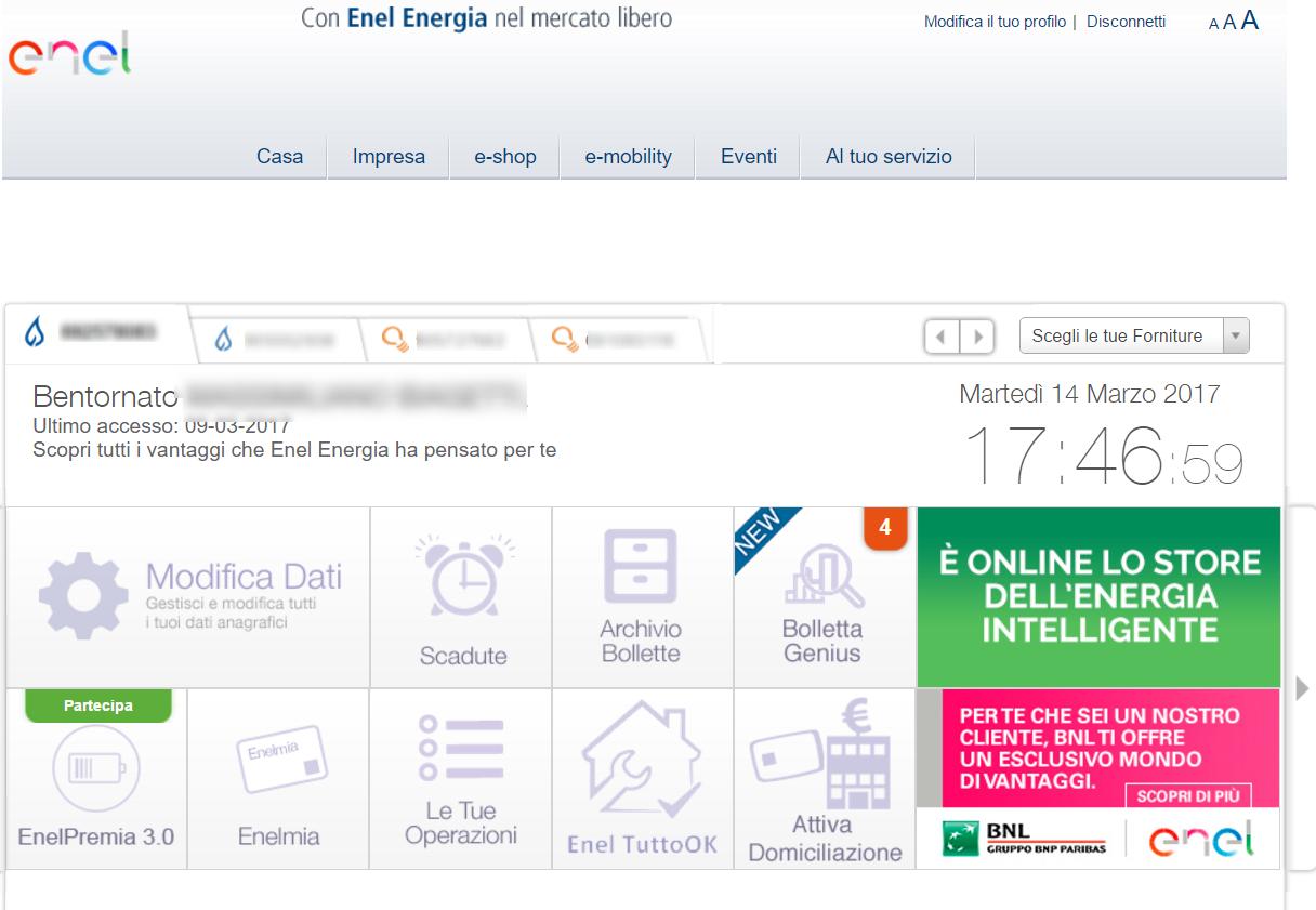 Come pagare le bollette luce e gas enel online in modo sicuro for Enel gas bolletta