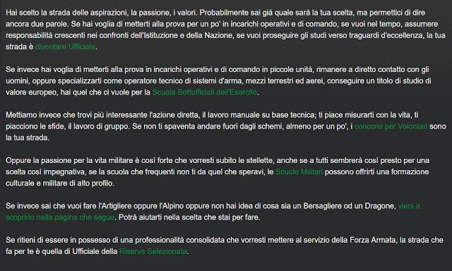 come diventare ufficiale dell'esercito italiano
