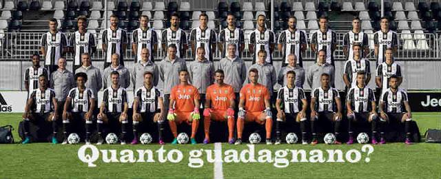 Quanto guadagnano i calciatori della Juventus
