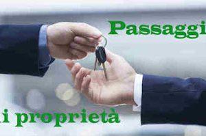 passaggio di proprietà costo