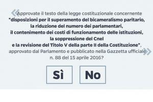 Referendum Costituzionale: Votare Sì o No ? Ecco cosa Votare e Perchè