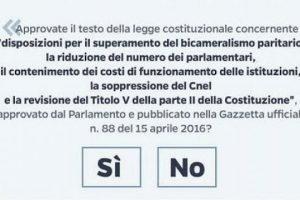 Referendum Costituzionale 2016: conseguenze del NO