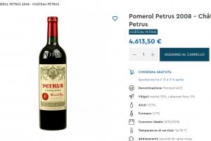 Costo di una bottiglia di vino e quale costa di più