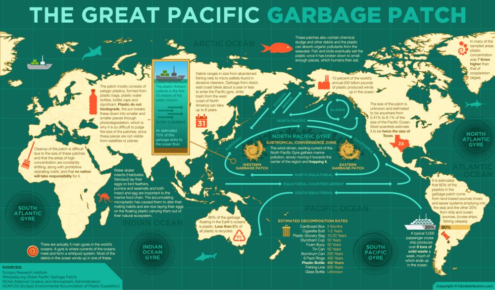 Come Ridurre l'Inquinamento di Plastica del Mare e Oceani