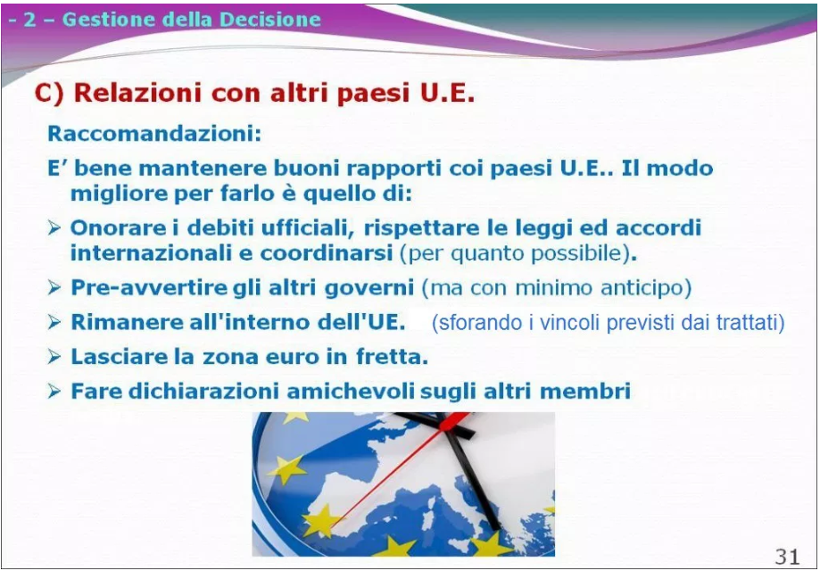uscire dall'euro italia