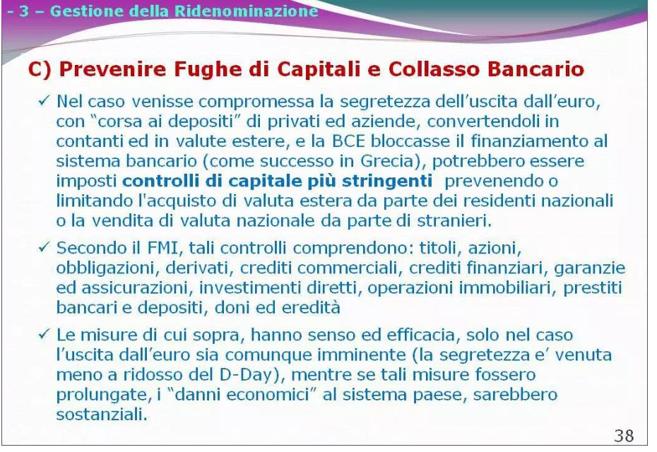 se l'italia esce dall'euro cosa succede