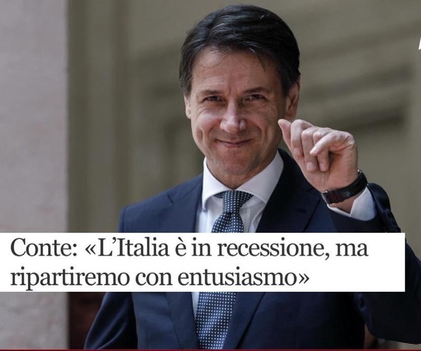 economia italiana in recessione: previsione futura