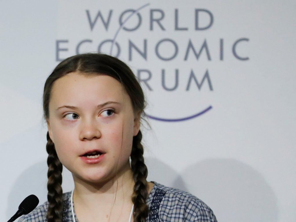 cambiamento climatico greta parla al world economic forum