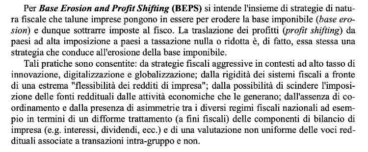 Base Erosion and Profit Shifting ( BEPF )