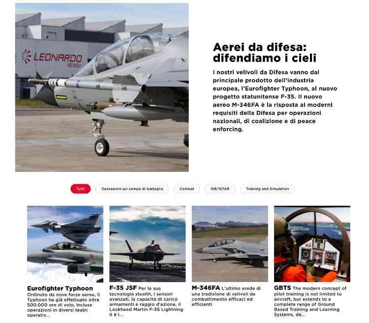 Aerei Militari Italiani della Leonardo - Made in Italy