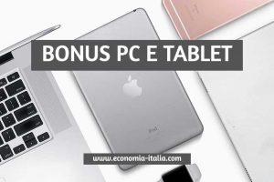 Bonus PC e Tablet: Come Richiederlo e Chi ne ha Diritto